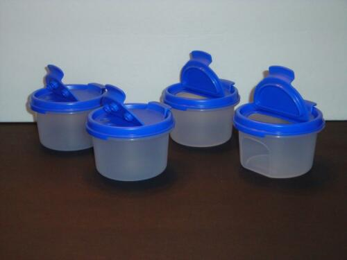 Tupperware Modular Mates Set of 4 Rounds #1 /& Blue Pour or Shake Seals New