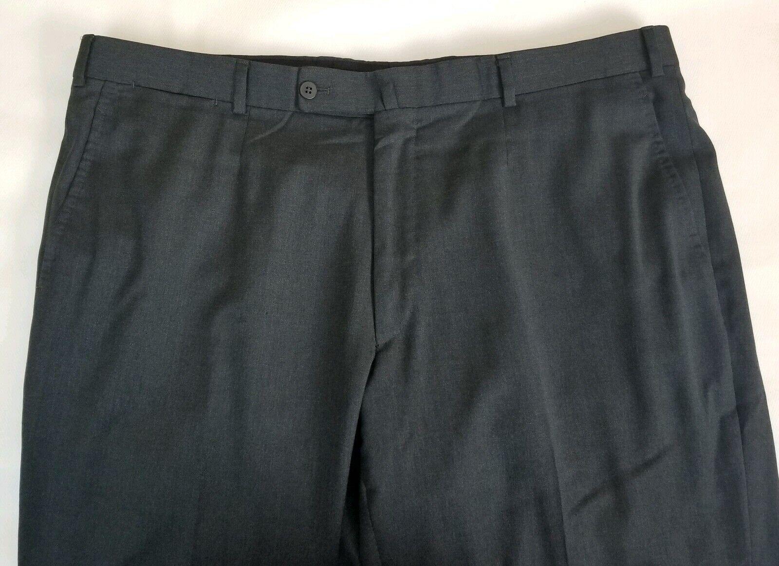 Isaia Napoli Grau Glatt Vorne Anzughose Aquaspider 160 S Wolle Herren 40x27