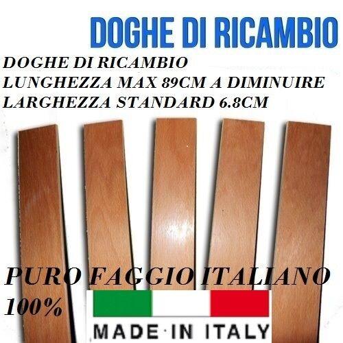 KIT 6 DOGHE DI RICAMBIO PER LETTO IN FAGGIO-TUTTE LE MISURE-LARGHEZZA 6.8cm