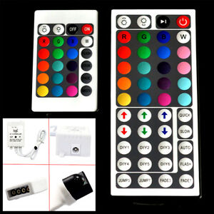 24-amp-44-Key-IR-Remote-Controller-Box-AC-DC-12V-6A-For-RGB-5050-3528-LED-Light