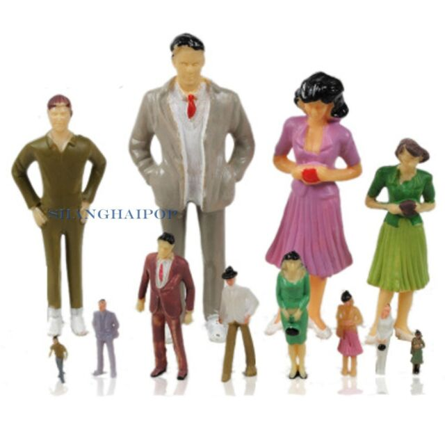 Model Train People Figures Set Painted Scale Miniature Layout 1:50/75/100 Toy