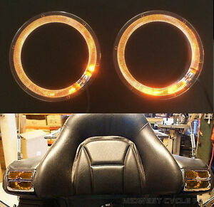 "Amber Angel Eyes LED Speaker Lights Goldwing GL1800 fits 4""/5"" Speakers 45-1849A"