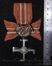 Finland 1939 WWII Medal 4th Class Order Liberty Complete Military Ribon & Cross.