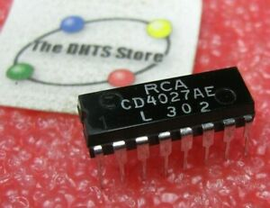 CD4027AE-RCA-IC-CMOS-J-K-Flip-Flop-Plastic-CD4027-4027-NOS-Qty-1