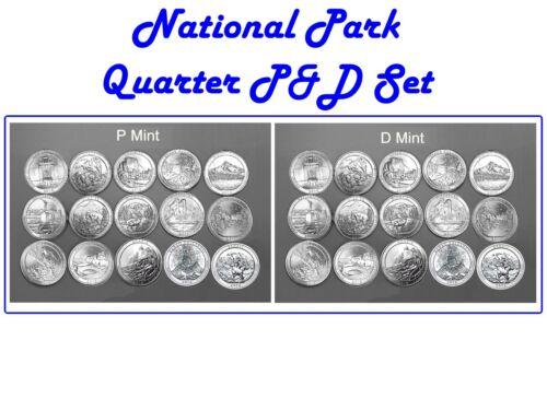 ALL 30 COINS INCLUDING DENALI 2010-2012 P/&D  MINT NATIONAL PARK SET
