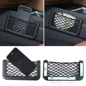 UNIVERSAL-CAR-SEAT-SIDE-BACK-NET-STORAGE-BAG-PHONE-HOLDER-POCKET-ORGANIZER-BF4K
