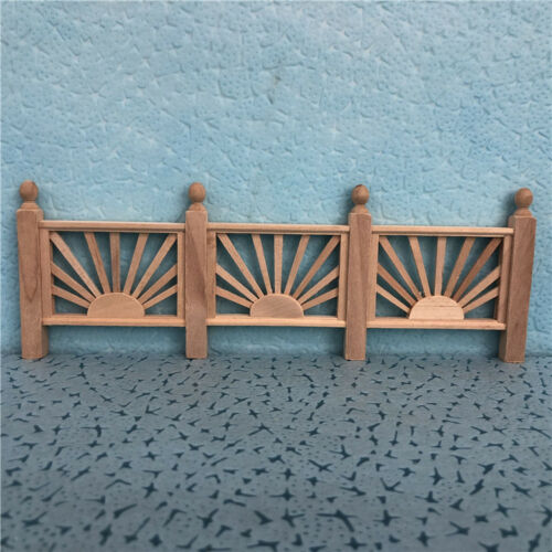 1//12 Dollhouse Miniature Yard Stockade Barrier Handrail Fence DIY Garden Decor