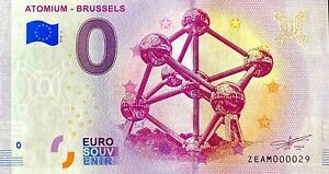 BILLET-0-EURO-ATOMIUM-BRUSSELS-BELGIQUE-2018-NUMERO-29