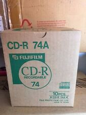 Fujifilm CD-R 74A Recordable CD's, 74 Minutes. Lot of 10.