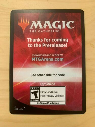 Magic the Gathering Arena Code from Ikoria Prerelease Kit 6 Digital Boosters MTG