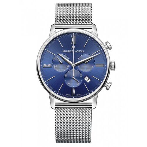 1 of 1 - Maurice Lacroix EL1098-SS002-410-1 Men's Eliros Chronograph Wristwatch