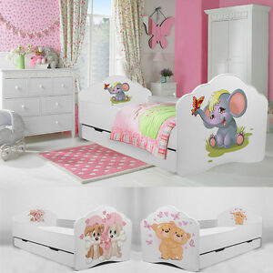 kinderbett babybett jugendbett 140x70 160x80 mit matratze. Black Bedroom Furniture Sets. Home Design Ideas