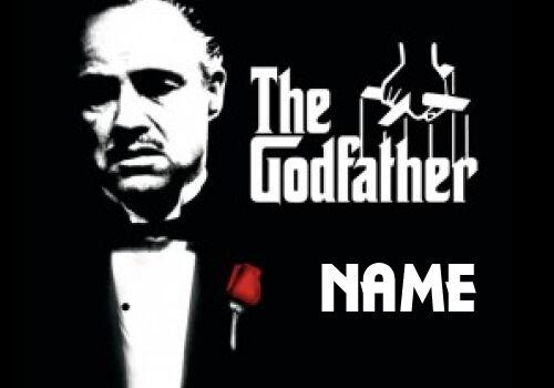 with Name Personalised GodfatherGodmotherGodparent Keyring Gift
