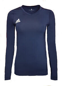 d725297851 Details about Womens 22 ADIDAS Techfit Compression T Shirt Base Layer Top  Long Sleeve Running