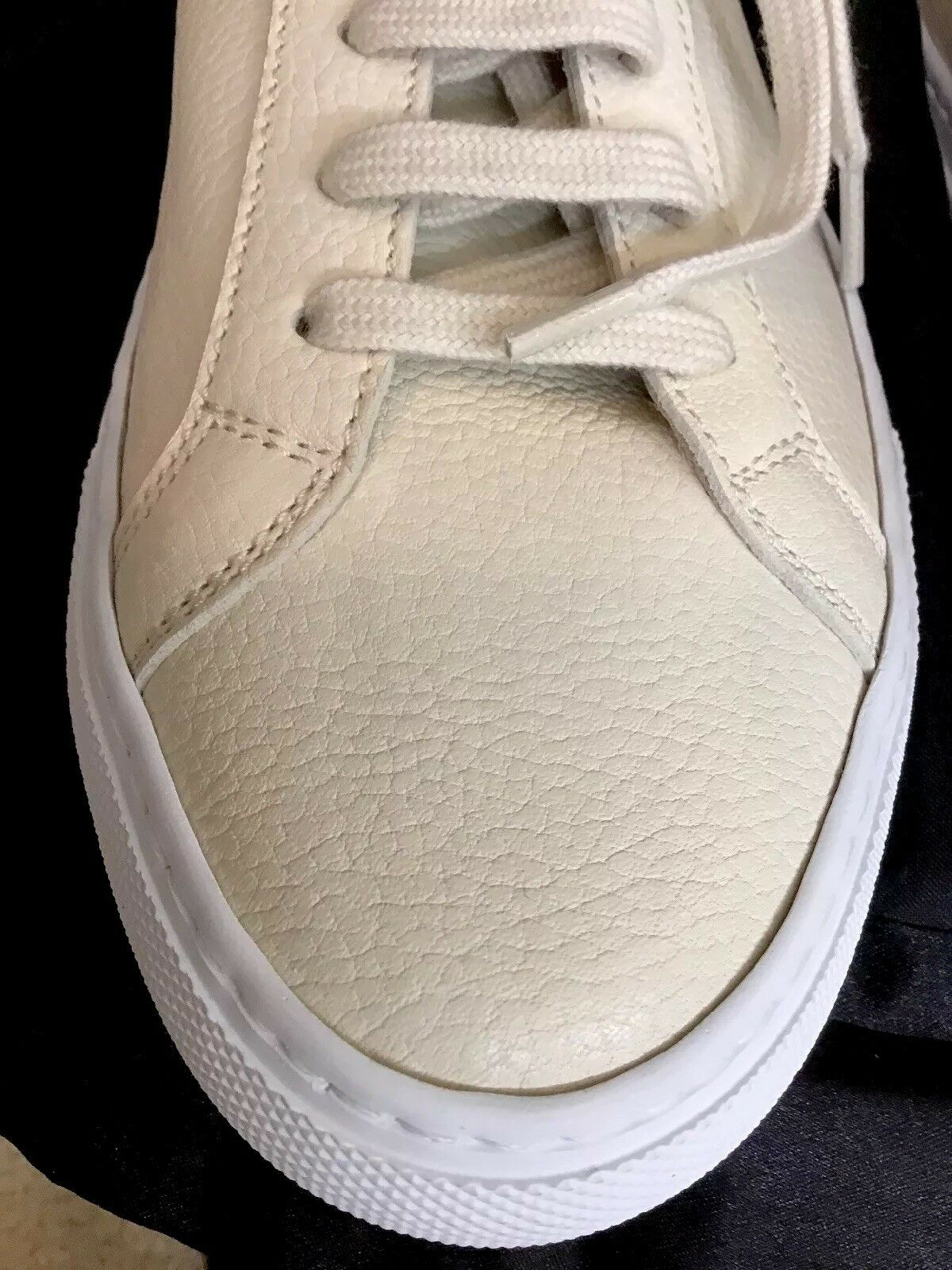 Woman By Common Projects Nude Nude Nude Leather Lace Up Snickers Size 39 New 335ea2
