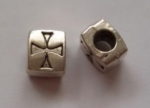 5//10//15 cruz beads grande agujero perlas Paracord Lanyard pulsera grande agujero perlas k02