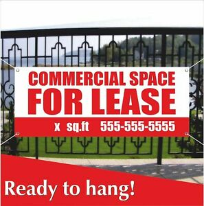 Commercial Space For Lease Banner Vinyl Mesh Banner Sign Store Real Estate Space Ebay