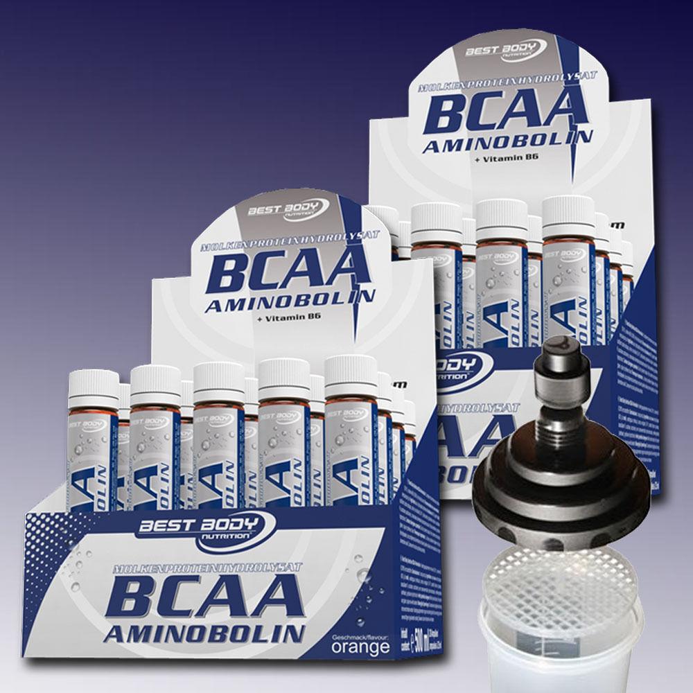 /Liter Best Body Nutrition + BCAA Aminobolin 2 x 20 Ampullen + Nutrition 1 Shaker 7b3020