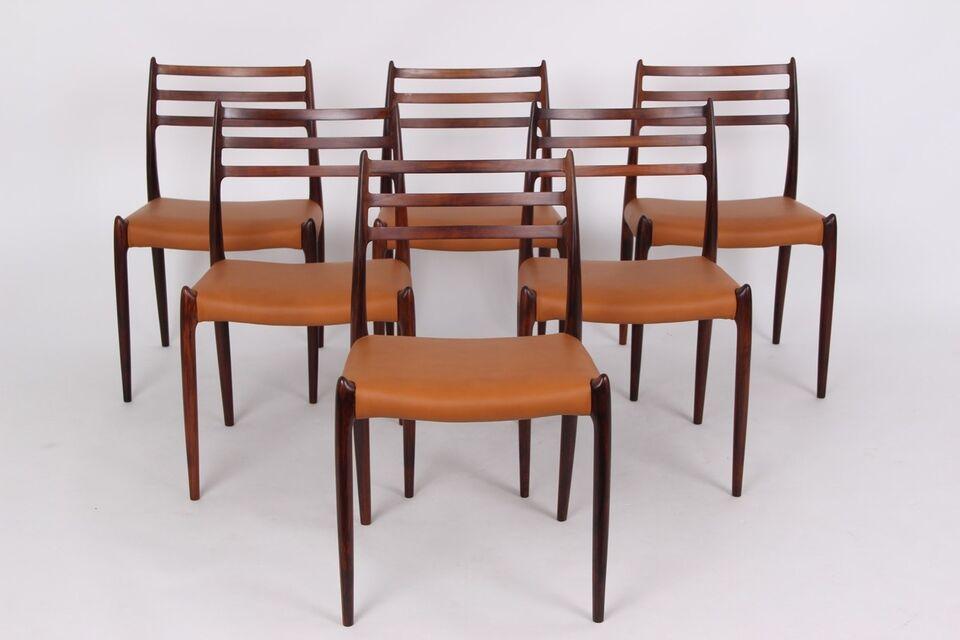 Niels O. Møller, stol, JL 78 stole. Sæt på 6