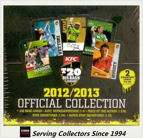 2012-13 T20 Big Bash League Cricket Australia Card Box (36 Pks)--1600 Boxes only