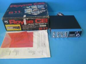 Details about ROYCE 611 MOBILE CB RADIO TRANSCEIVER 40 CHANNEL IN BOX NO  MIC Parts/Repair