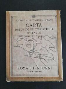 Cartina Geografica Roma E Dintorni.Carta Geografica Mappa Tci Roma E Dintorni Turismo Ebay