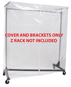 Clear Z Rack Cover With Zipper And Square Tube Bracket