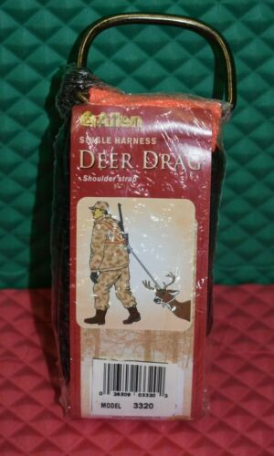 Allen Single Harness Deer Drag Shoulder Strap HI-VIS Orange  #3320