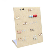 Linen Ramp Jewelry Display Earring Stand Holder Organizer Storage Cases 2025cm