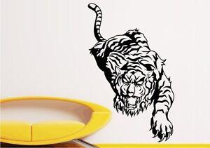 Wandtattoo-TIGER-Wandaufkleber-Dschungel-Tiere-freie-Farbwahl-Gr-92-x-57cm