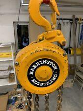 Harrington 2 Ton Chain Hoist 30 Lift 30 Pendant Chain