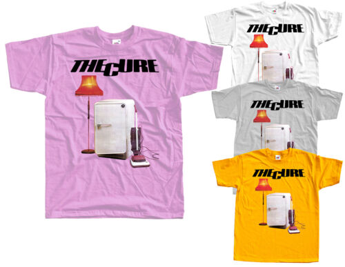 S-5XL WHITE ZINK The Cure album cover T-SHIRT DTG Three Imaginary Boys