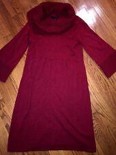 THE LIMITED Crimson Burgundy Scarlett Red Vintaga WOMENS SWEATER DRESS Sz MEDIUM