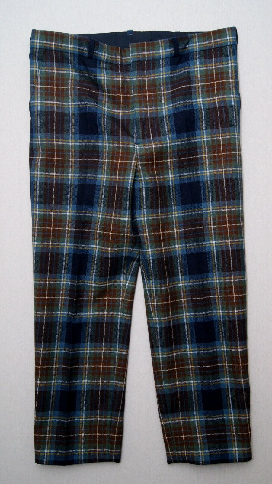 Holyrood Modern tartan men's hand made Scottish pure wool trews trousers W41/L30