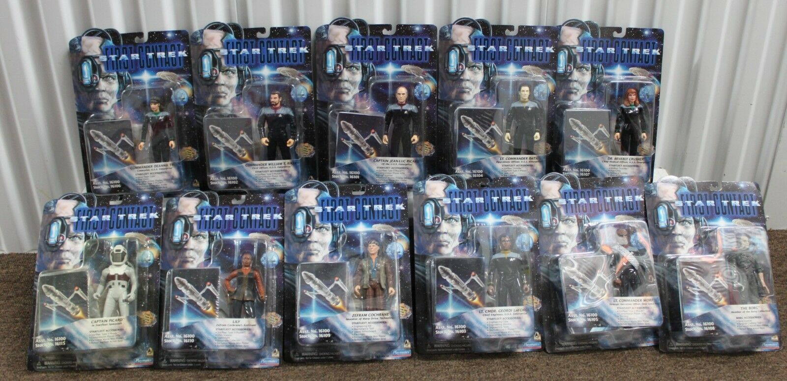 11-SET FIRST CONTACT Star Trek Action Figures Movie Toys Complete Lily Borg NEW