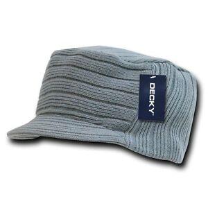 bfce9ccbc6e Light Heather Grey Gray Jeep Flat Top Beanie Knit Cap Winter Hat ...