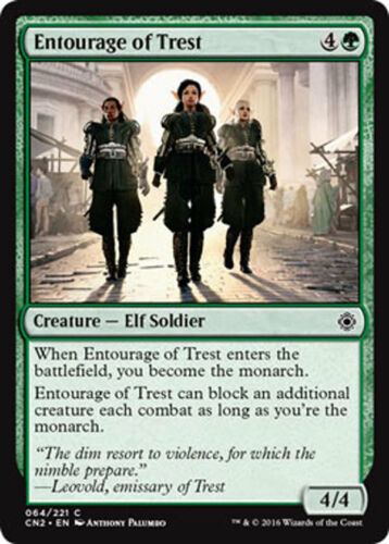 4x 4 x Entourage of Trest x4 COMMON Conspiracy Take the Crown MTG MINT UNPLAYED