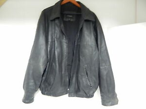 9150990db Details about OUTBROOK MEN'S LEATHER JACKET XL X-LARGE X-LG BLACK