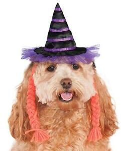 07d6146ce8b4f Image is loading Witch-Hat-Purple-Pigtails-Fancy-Dress-Up-Halloween-