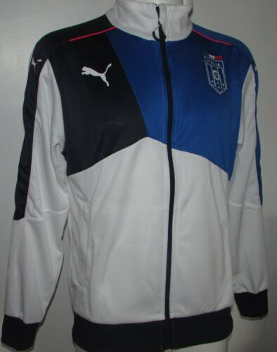Mens Puma FIGC Italia Stadium Walk-Out jacket-Team Power Blue Various Sizes