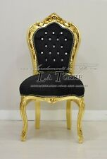Poltrona futè sedia braccioli Luigi XV oro vellutino rosso barocco AR1114
