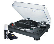 Audio Technica AT-LP120BK-USB Turntable with Direct-Drive (Black)- NEW! + Bundle