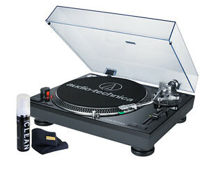 Audio-Technica-AT-LP120BK-USB-Turntable-with-Direct-Drive-Black-NEW-Bundle