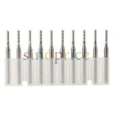 10pcs Tungsten Carbide 1.6mm x 3.175mm End Mill Engraving Bits for CNC PCB