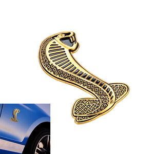 3d Cobra Snake Emblem Badge Sticker Decal Carven Fit For