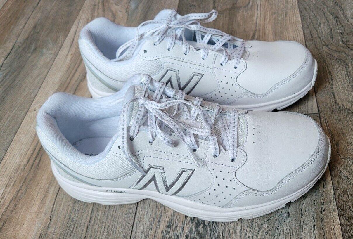 New Balance Femme 411 V1 WA411LW1 blanc Chaussures de course à lacets Taille 8.5 EUC
