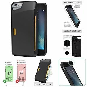 big sale a9600 4aec0 Details about iPhone 6 Wallet Case For Men Vault Slim Wallet Credit Card  Grip Cover Protective