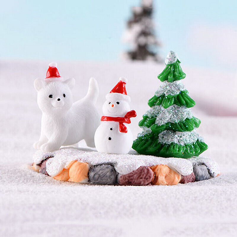 Christmas Snowman DIY Miniature Figurine Garden Dollhouse Decor Micro LandscaDS