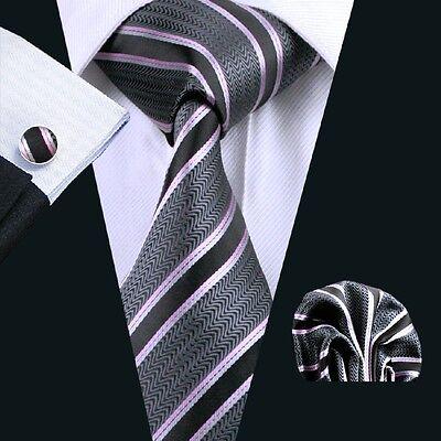 C-226 Hot New Mens Silk Ties Red Wedding Party Neckties Tie+Hanky+Cufflinks