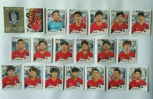 Panini-coupe-du-monde-2018-Coree-du-Sud-Coree-Republic-equipe-COMPLETE-SET-WORLD-CUP-WC-18